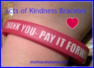 acts of kindness bracelet