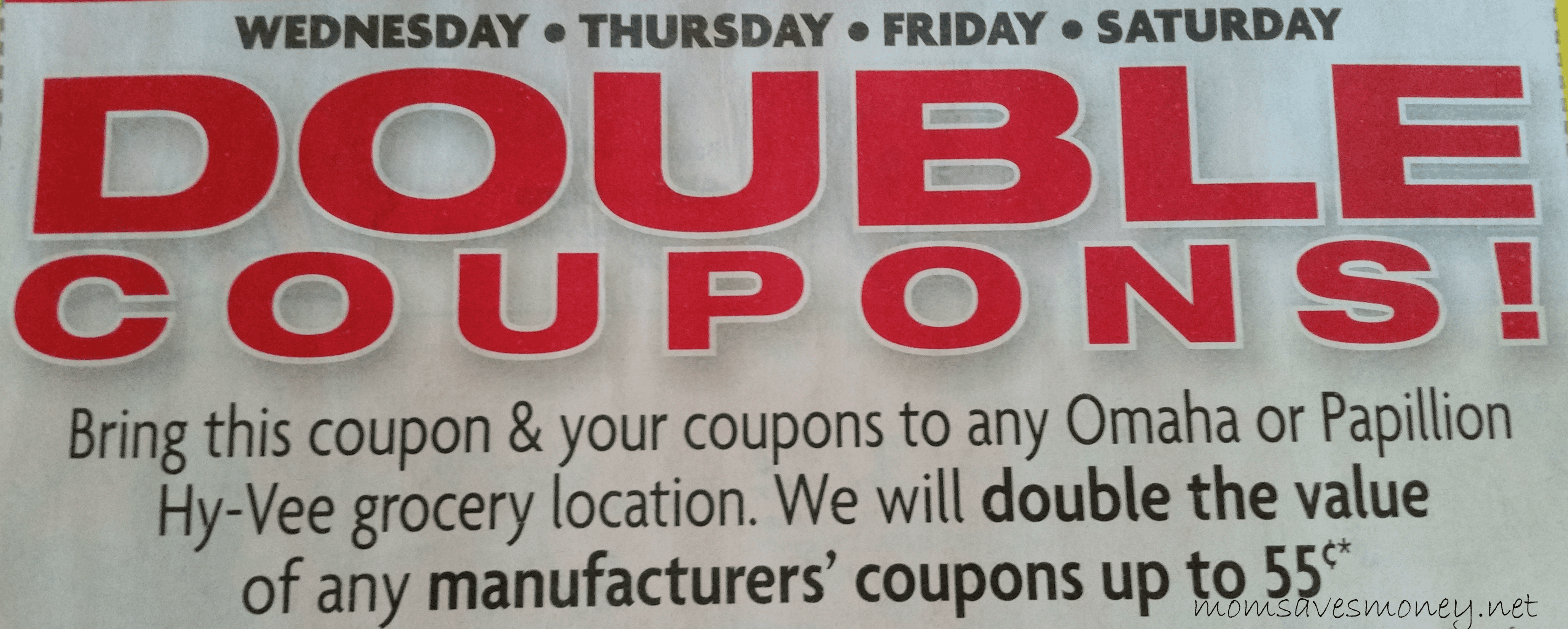 Hyvee Double Coupon