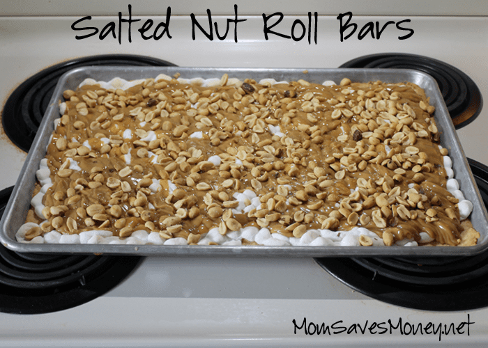 Salted Nut Roll Bars Yellow Cake Mix