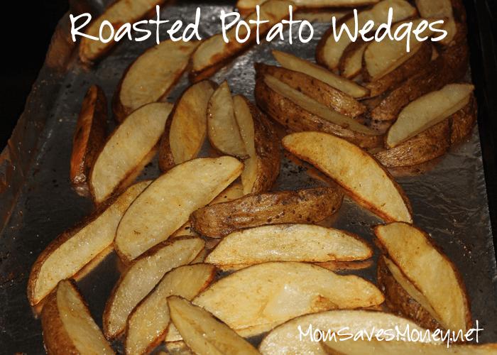 Roasted Potato Wedges seasoned to your tastes
