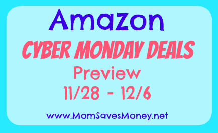 amazon cyber monday week of deals mom saves money. Black Bedroom Furniture Sets. Home Design Ideas