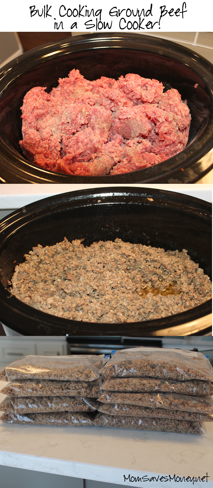Kitchen hack bulk cooking ground beef in a slow cooker for What can you cook with ground beef