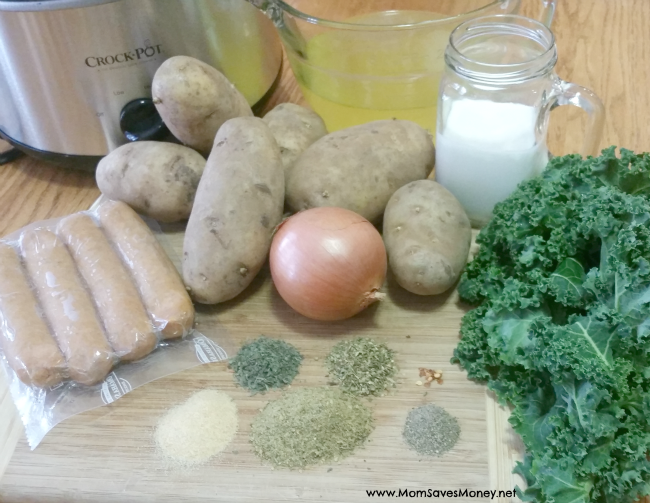 ingredients for copycat Olive Garden Zuppa Tuscana soup