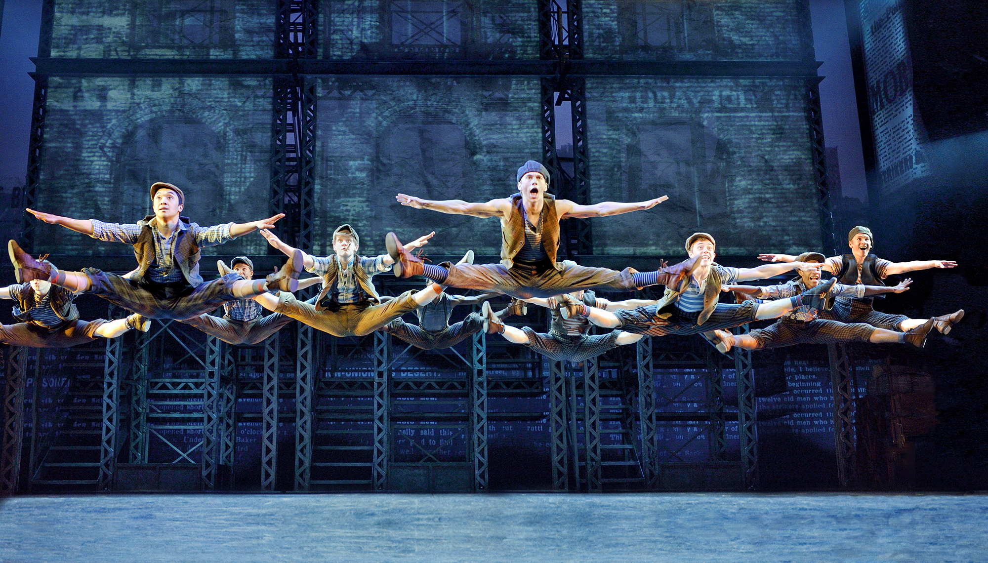 Newsies, a Disney Theatrical Production under the direction of Thomas Schumacher presents Newsies, music by Alan Menken, lyrics by Jack Feldman, book by Harvey Fierstein, starring Dan Deluca (Jack Kelly), Steve Blanchard (Joseph Pulitzer), Stephanie Styles (Katherine Plumber), Angela Grovey (Medda), Jacob Kemp (Davey), Zachary Sayle (Crutchie), Anthony Rosenthal or Vincent Crocilla (Les) and Matthew J. Schechter (Les) under the direction of Jeff Calhoun, choreographed by Christopher Gattelli, North American Tour premiere Thursday October 30 Philadelphia