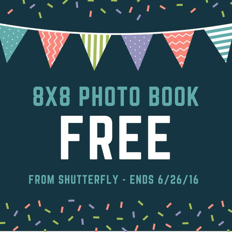 shutterfly free 8x8 photo book ends 6 26 mom saves money