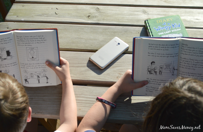 diary of wimpy kid reading