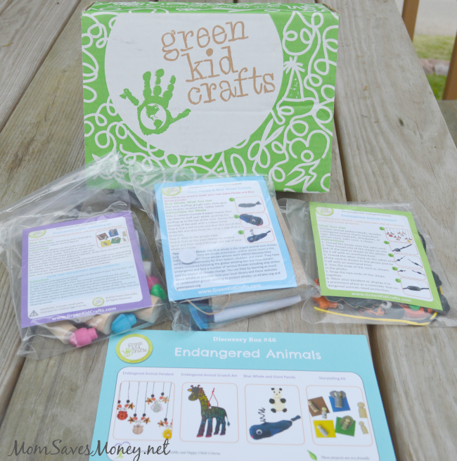 green craft kids box