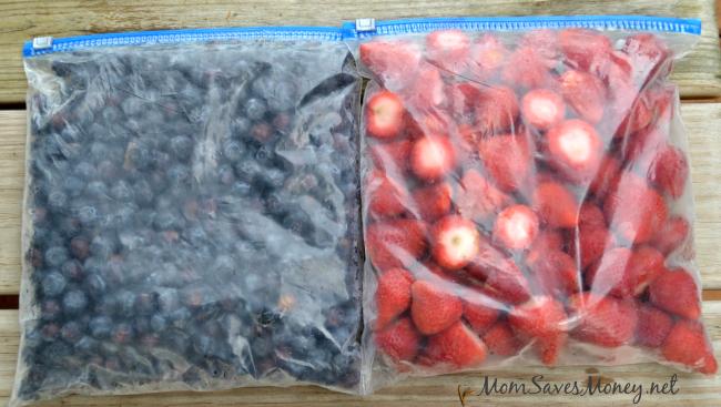 freezing berries