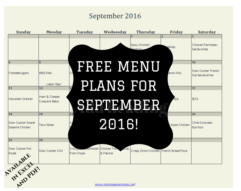 September 2016 Dinner Graphic