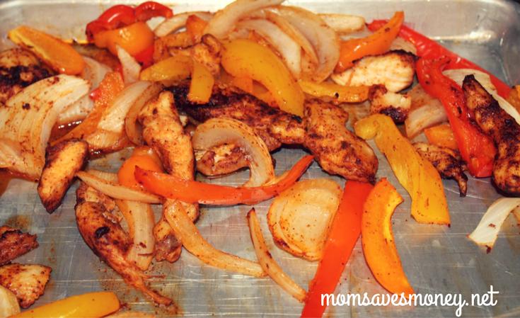 oven baked chicken fajitas sheet pan