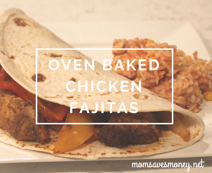 Oven Baked Chicken Fajitas - chicken, peppers and onions made quite tasty!