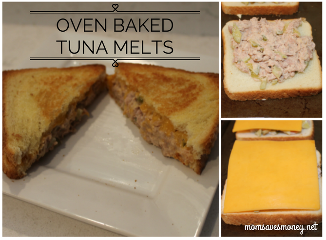 tuna melt collage