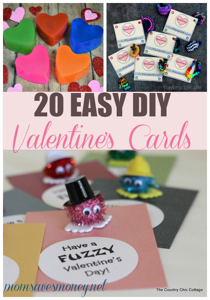 20 Adorable DIY Valentines Day Card Ideas Mom Saves Money – Valentines Card Ideas for Kids