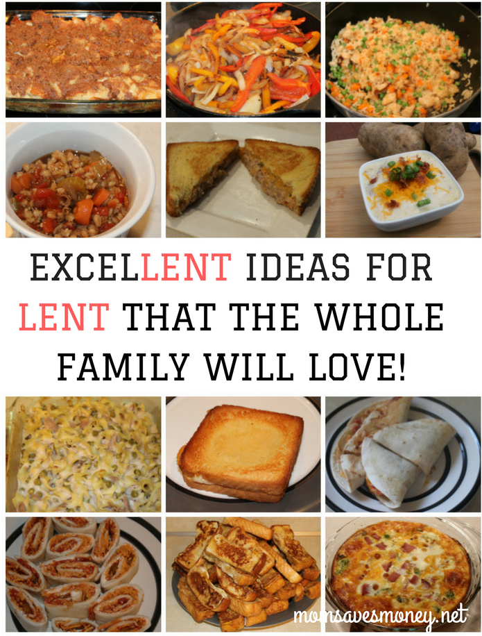 Over 25, easy, family-friendly recipes for Lent or Meatless Mondays.