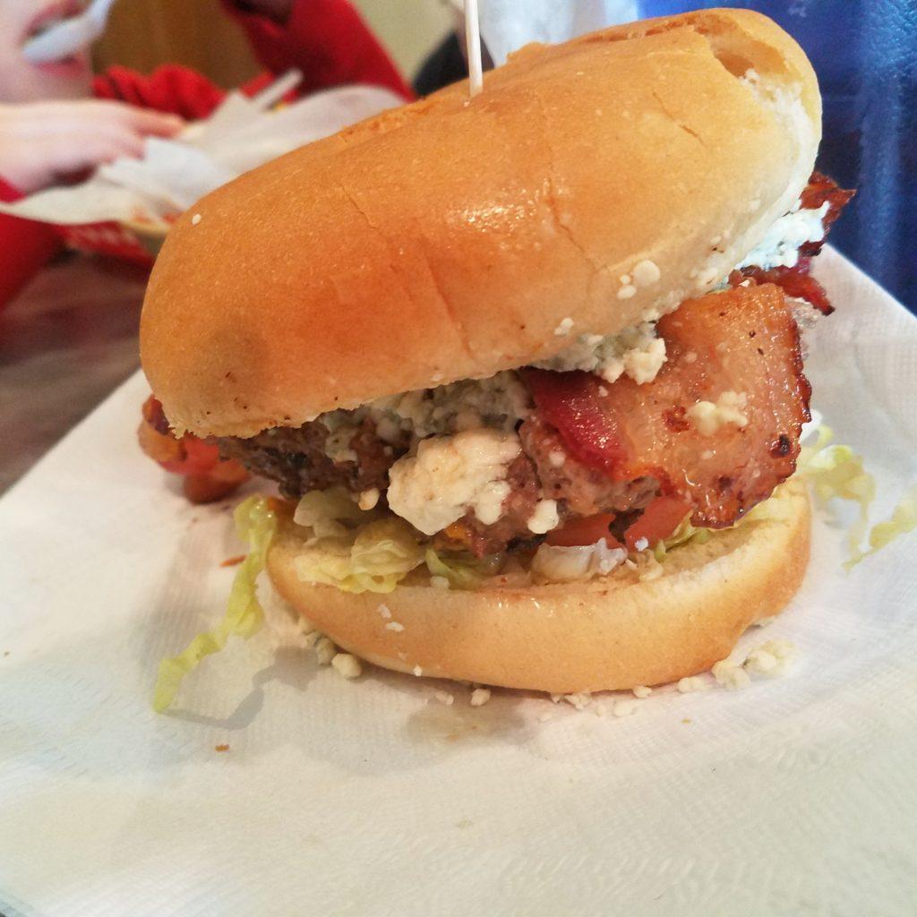 Stella's Blue Cheese & Bacon Burger