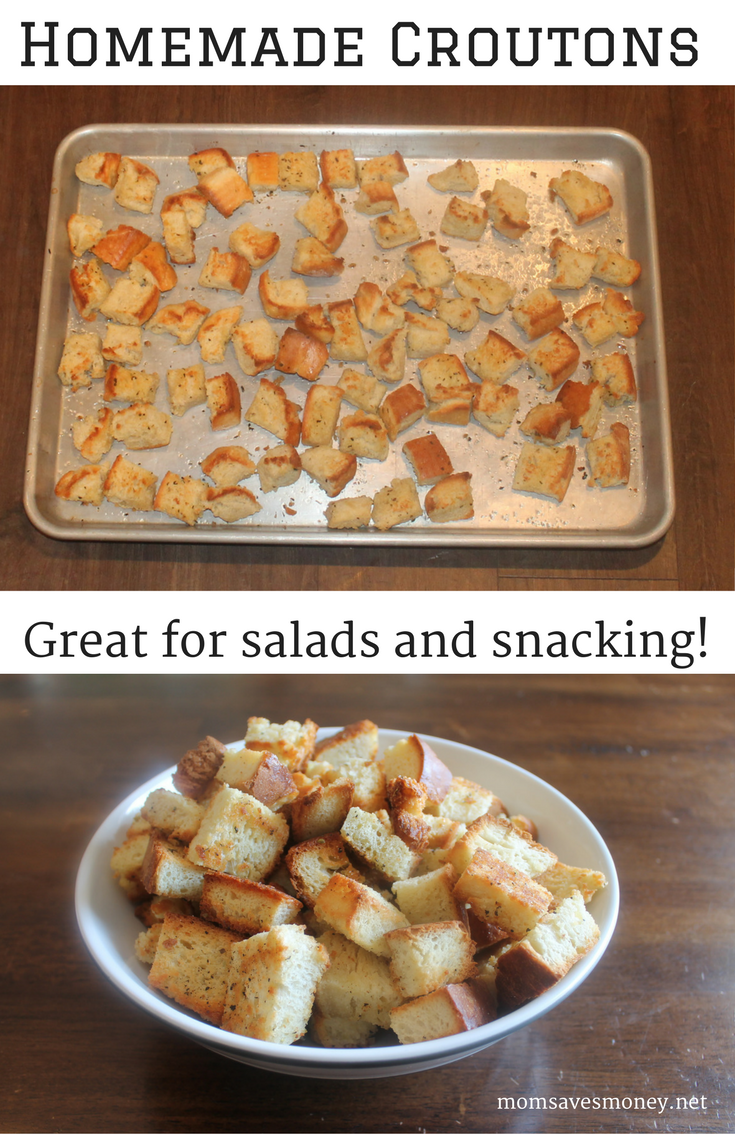 How to make croutons from black bread with garlic