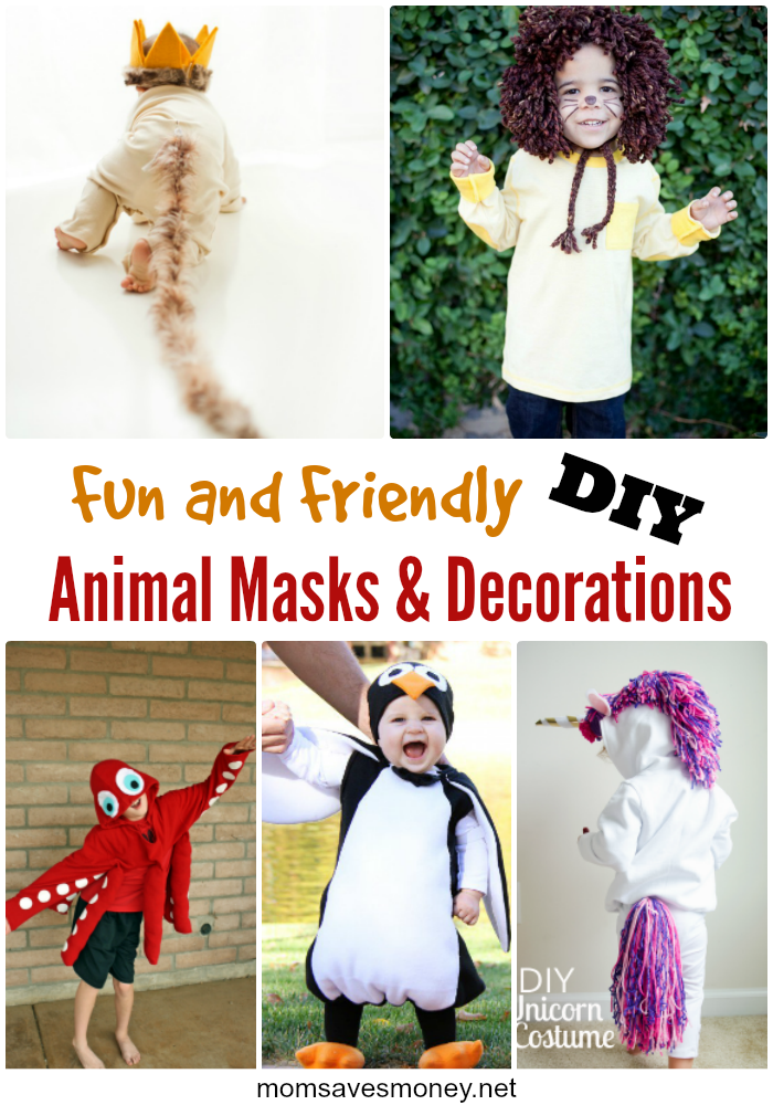 Fun And Friendly Diy Animal Masks Costumes Mom Saves Money