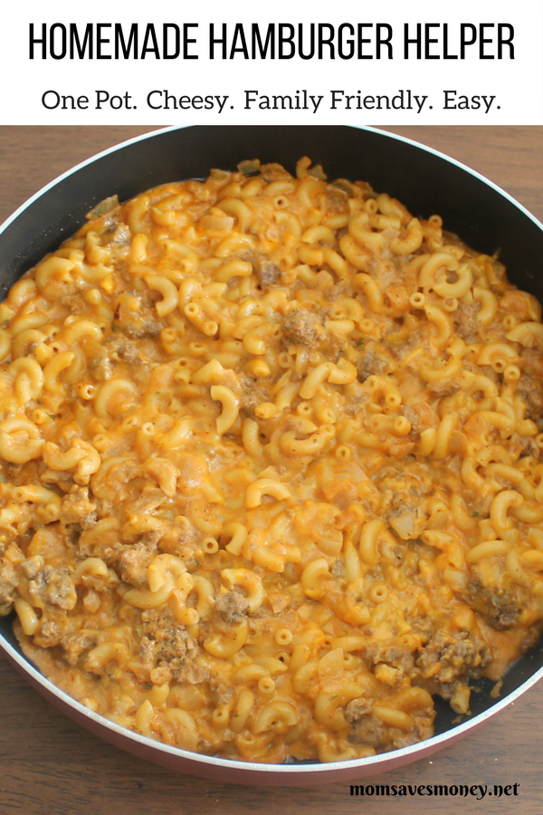 I found this recipe via Pinterest and it piqued my interest. There has to be a reason that Hamburger Helper has been around longer than I have.