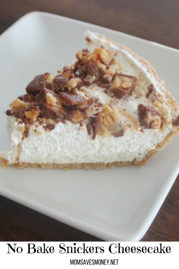 The taste of Snickers and Cheesecake blend together perfectly in this easy, No Bake, Gotta Have It Dessert! #dessert #nobake #homemade #snickers #cheesecake #nobakecheesecake #easy #simple
