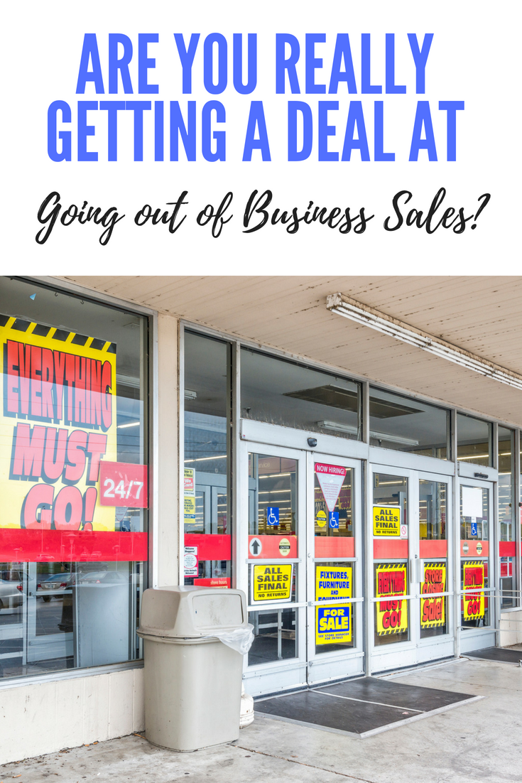 going out of business sales