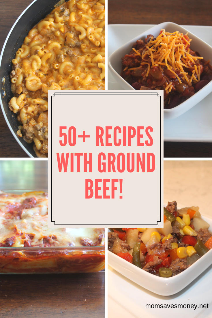 Got Ground Beef? You got the start of these 50+ recipes for ground beef including soups, Mexican dishes, comfort foods, Italian dishes, and sandwiches. Ground beef is the perfect starter to many meals. #groundbeef #homemade #soup #casserole #simple #slowcooker #recipes