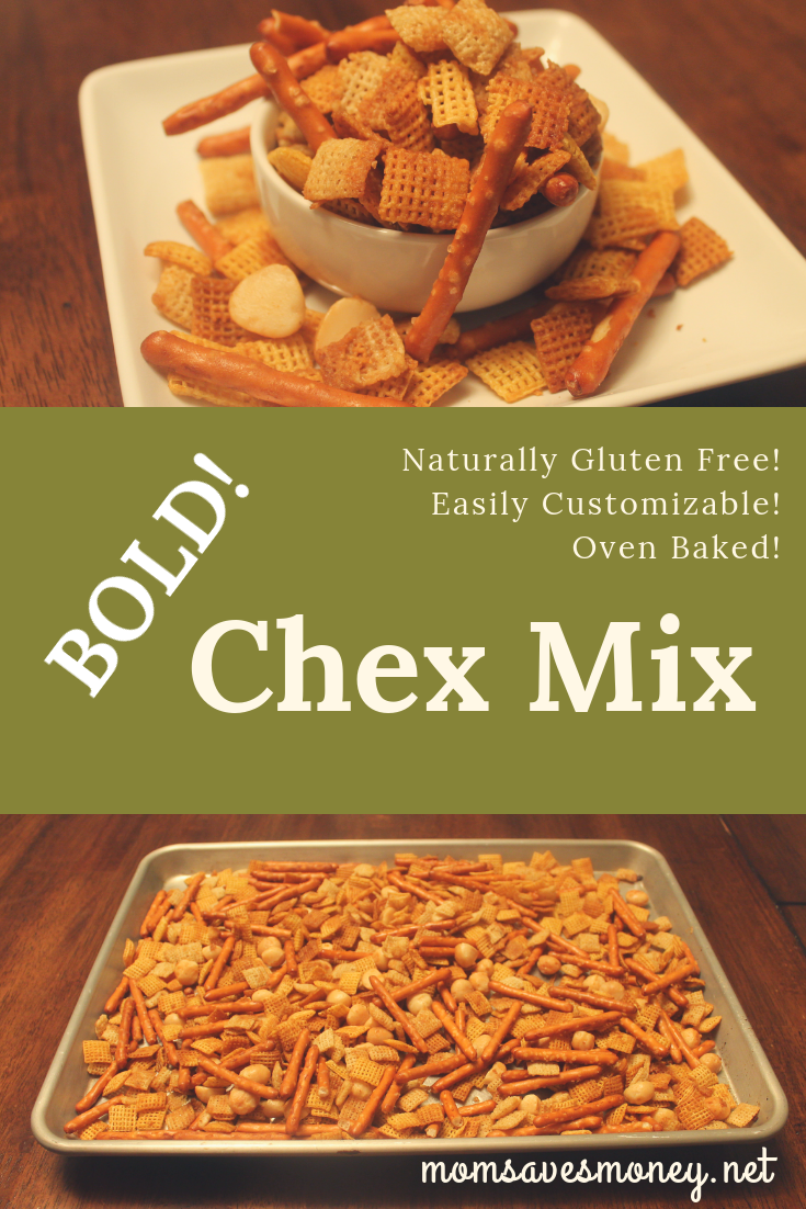A Bold Chex Mix full on flavor! Easily customizable to whatever your family likes.