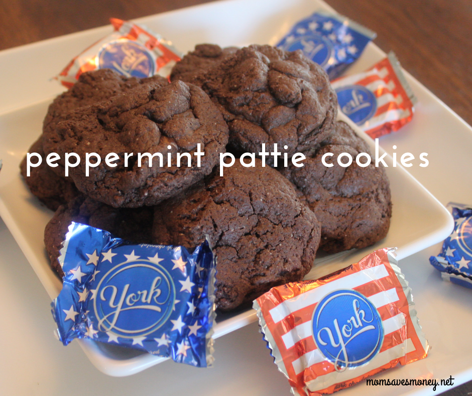 York Peppermint Pattie cookies are a fun chocolate cookie with refreshing mint flavor!
