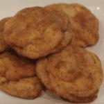 pumpkin spice snickerdoodle cookies on plate