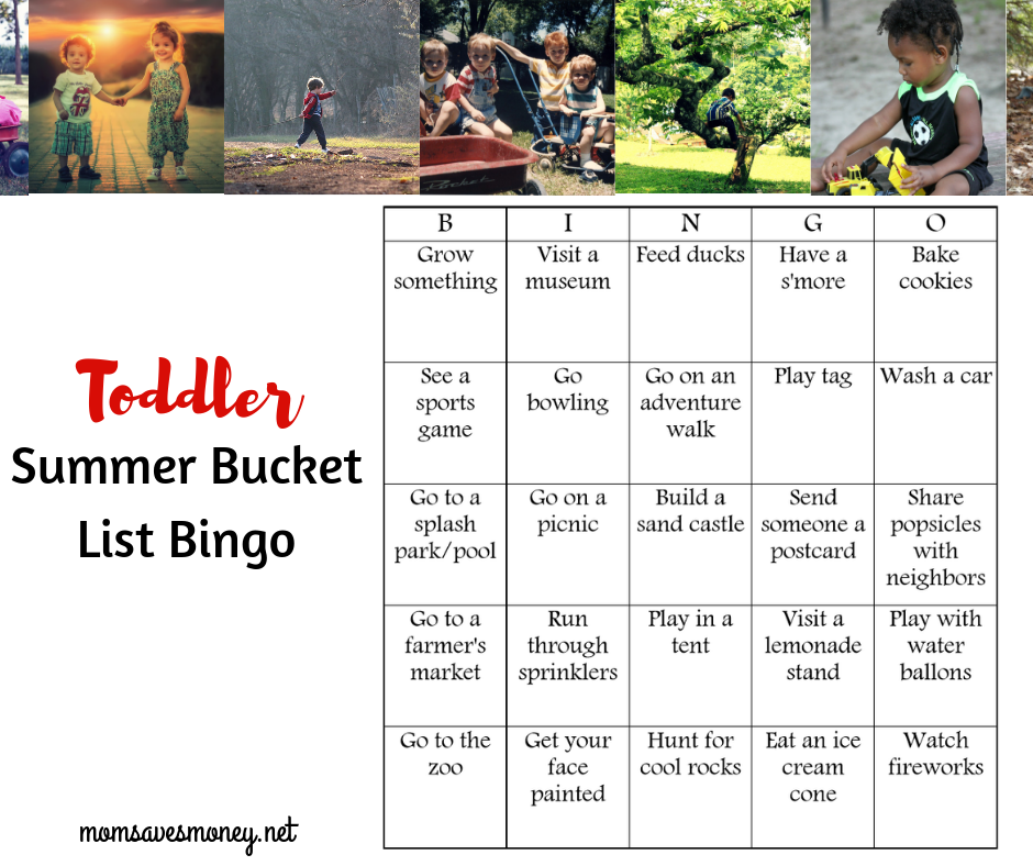 bingo for toddler summer fun
