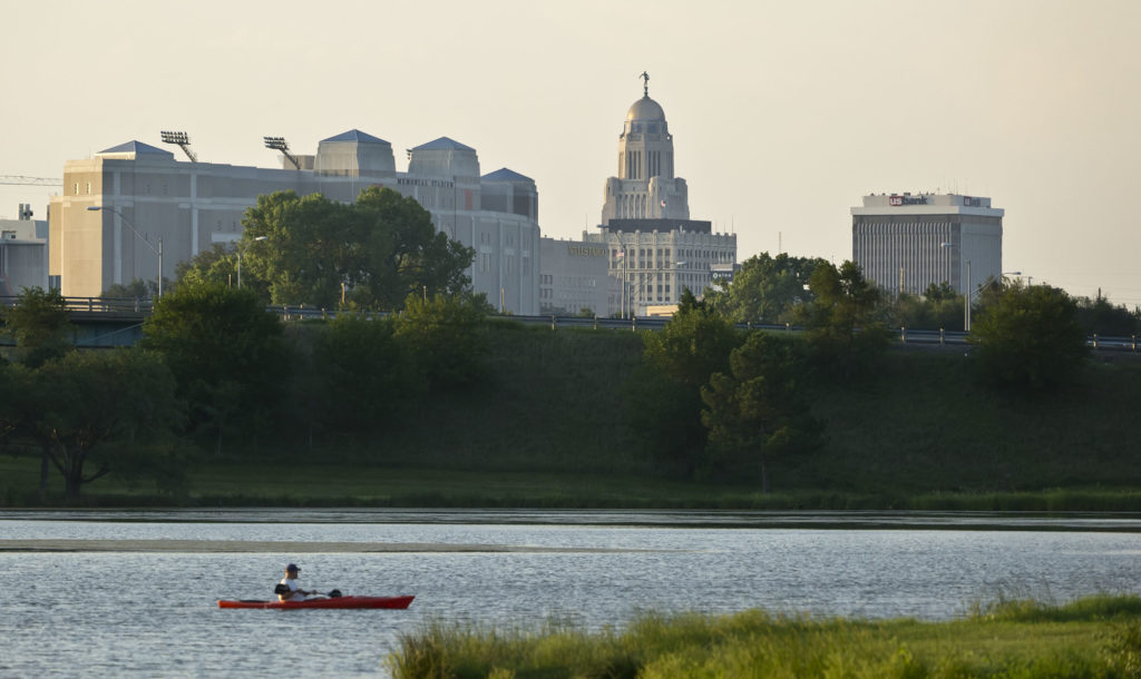 lincoln skyline with capitol building in background