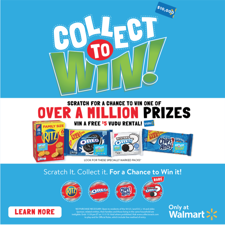 collect to win for prizes