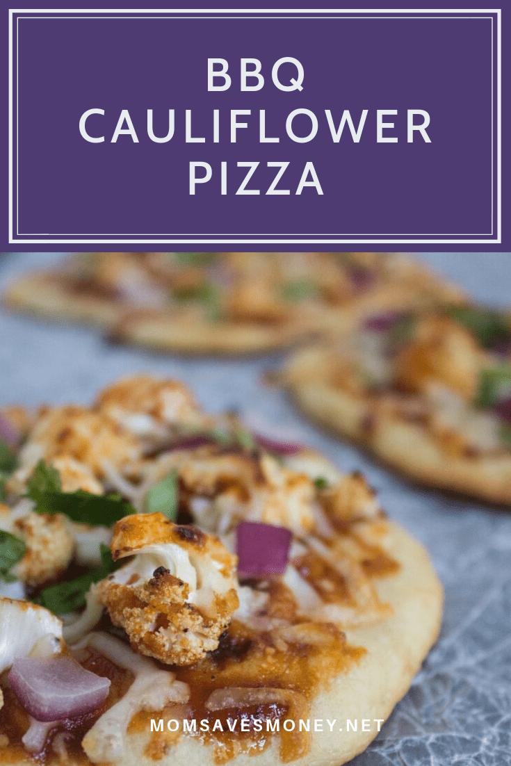 bbq cauliflower pizza