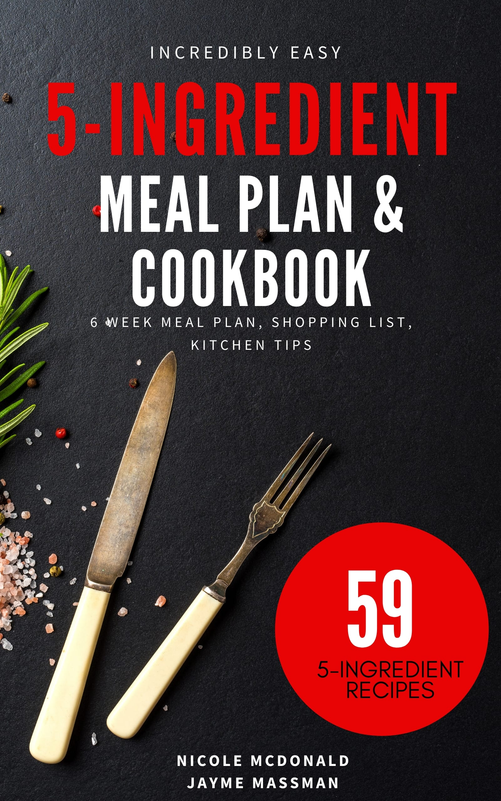 5 ingredient meal plan and cookbook cover