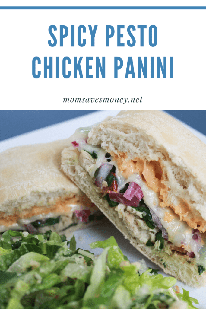 spicy chicken pesto panini