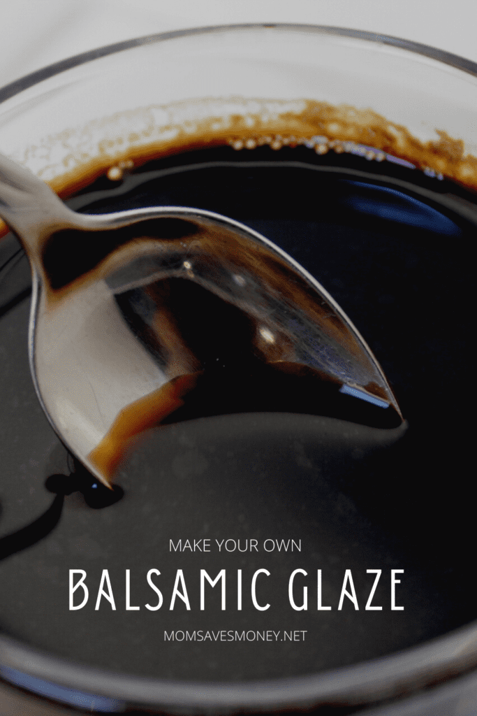 Balsamic glaze in bowl