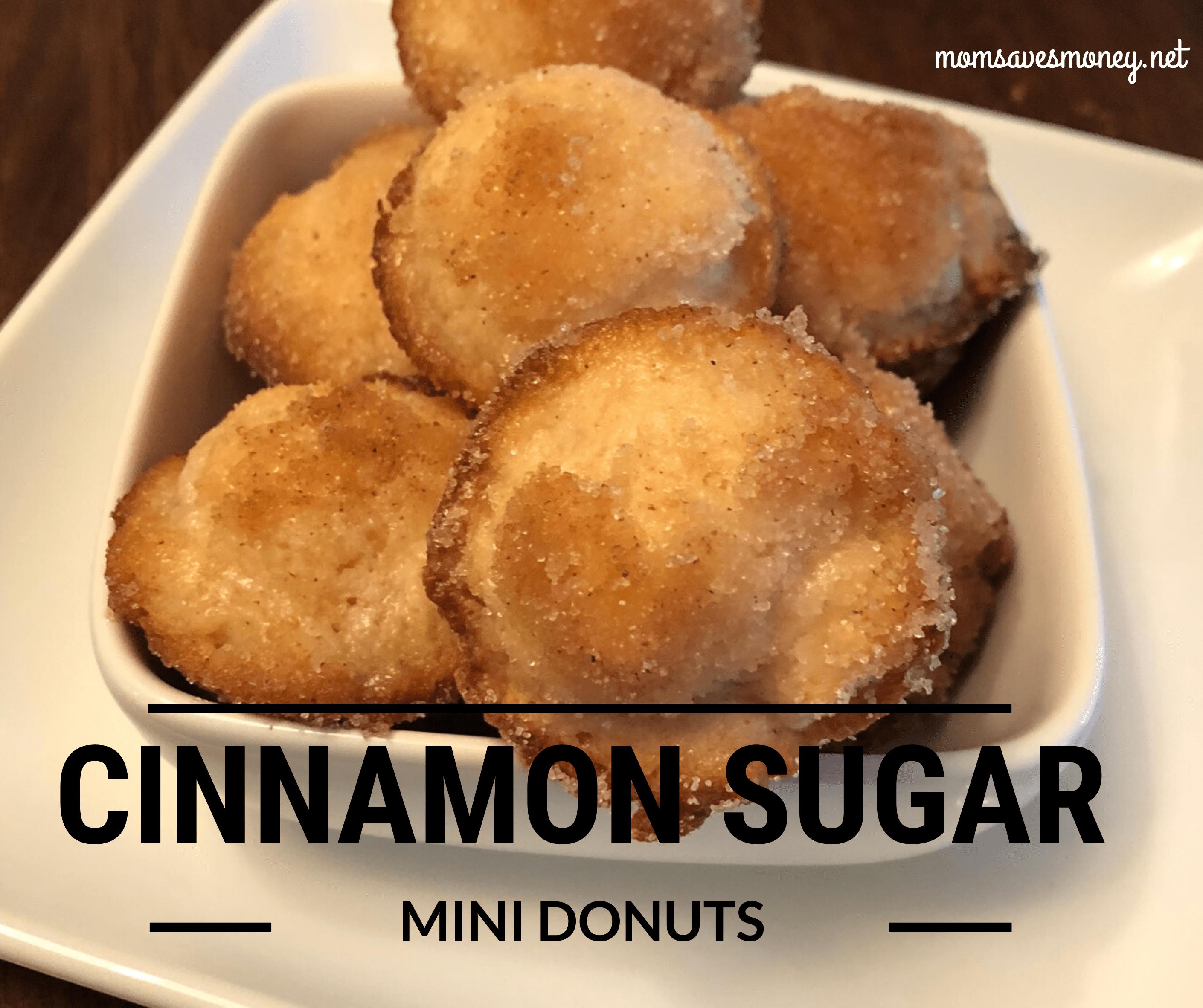 cinnamon sugar donuts in bowl