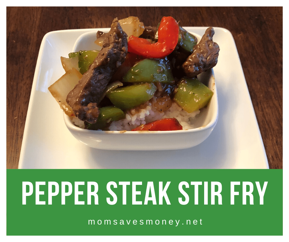pepper steak stir fry with bell peppers and onions