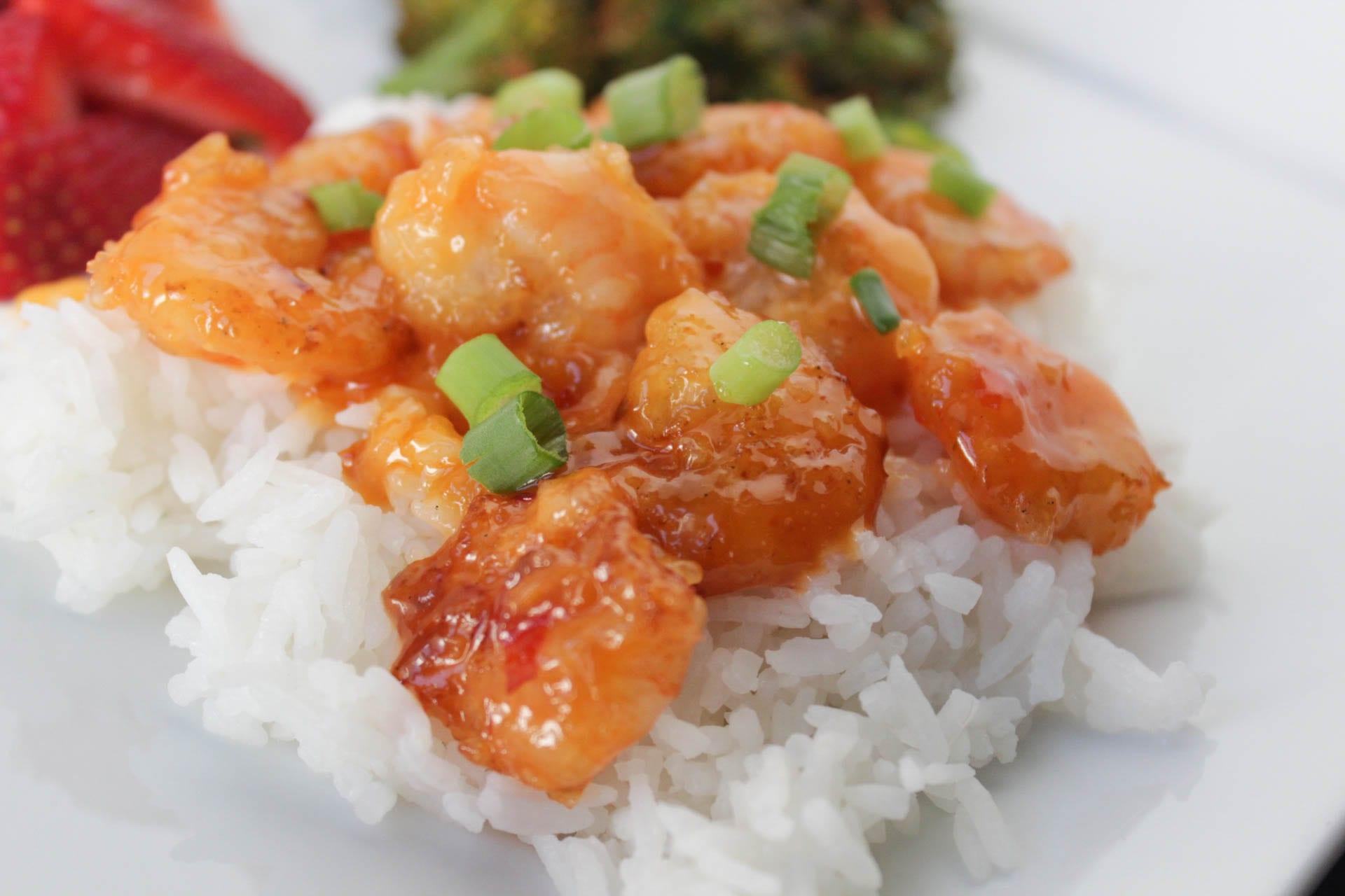 Bang Bang Shrimp plated