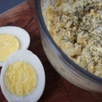 egg salad in bowl