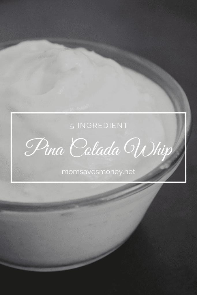 5-ingredient pina colada whip