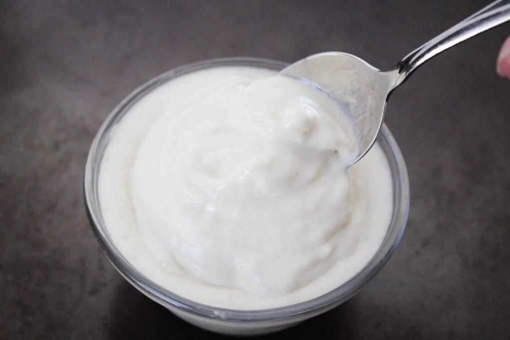 pina colada whip ice cream in a bowl