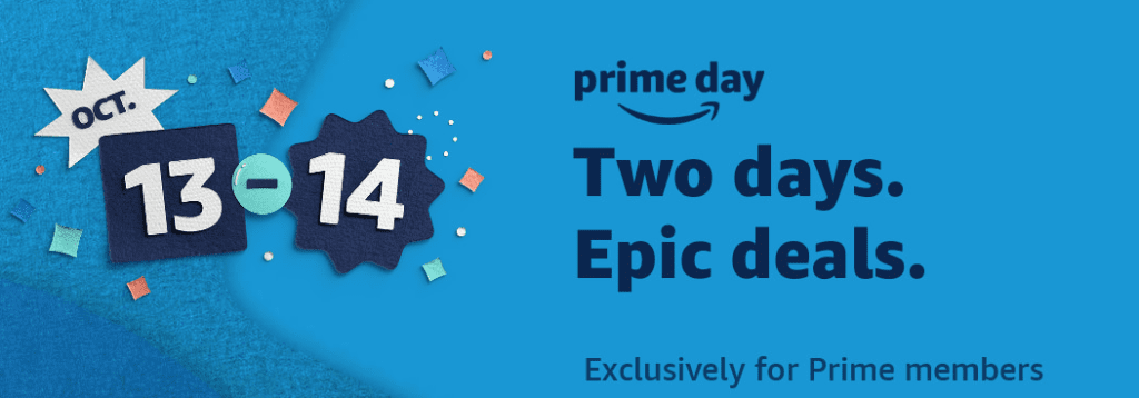 Amazon prime day is Oct 13-14, 2020