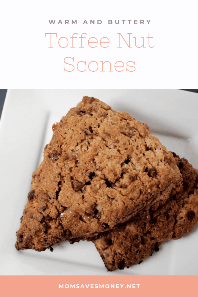 Toffee nut scones