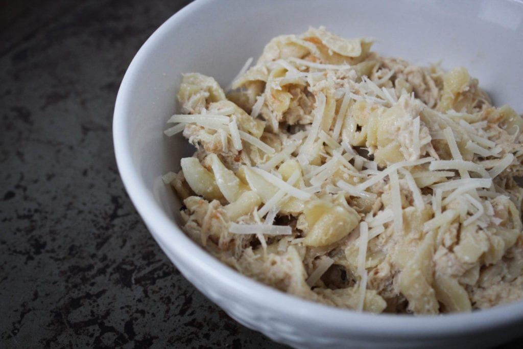slow cooker creamy italian chicken pasta with only 5 ingredients
