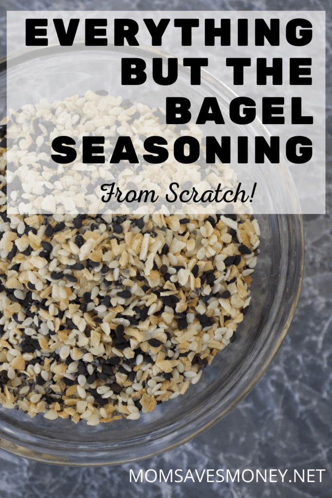homemade everything but the bagel seasoning mix in a clear bowl